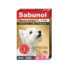 Sabunol obroża ozdobna dla psa różowa w łapki 50 cm