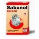 Sabunol -czerwona obroża dla kota 35 cm