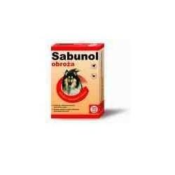Sabunol - czerwona obroza przeciw pchłom i kleszczom 50cm